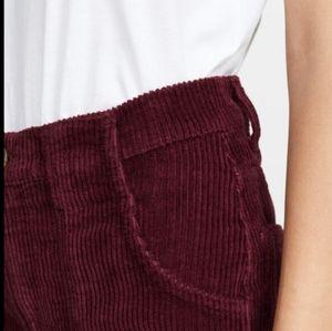 Reformation Corduroy High Waist Wide Leg Jeans 30